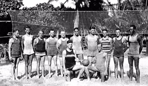 beach volleyball history hawaii 1920