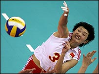 female volleyball players yang hao