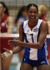 famous volleyball players Yumilka Ruiz from Cuba