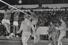 history-of-volleyball 1956 Paris world championship indoor